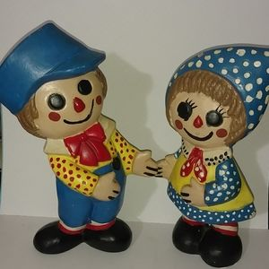 Raggedy Ann and Andy collectible home decor